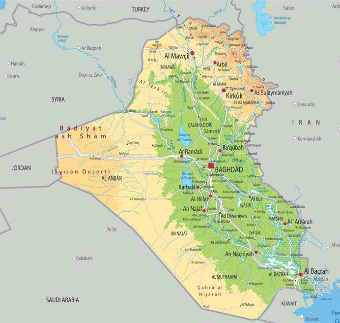 Cartina Iraq.Iraq Eng Mgf Italia